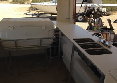 custom food vendor trailer, aluminum fabrication with electrical and plumbing custom welding Layton, Utah