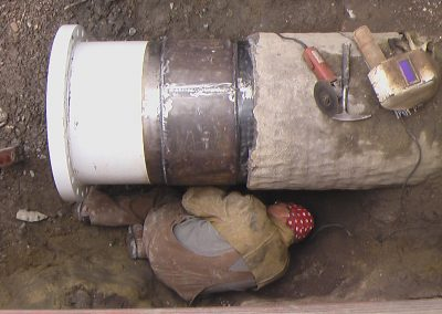shot coat pipe repair welding pccp flange with wrapper Salt Lake City, Utah