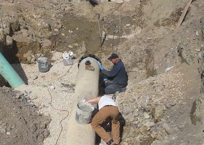 flange install on secondary water main, Ogden, Utah pipe welder