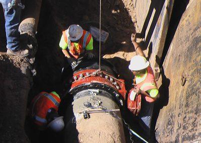 flange install in water main Salt Lake City, Utah pipe welding