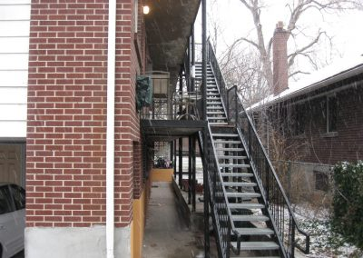 stairs and handrail Property Maintenance Welding stair treads stringers Salt Lake City, Utah