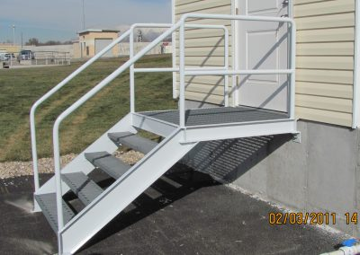 stair tread and handrail repairs, welding, property maintenance at water treatment facility Utah - stringers