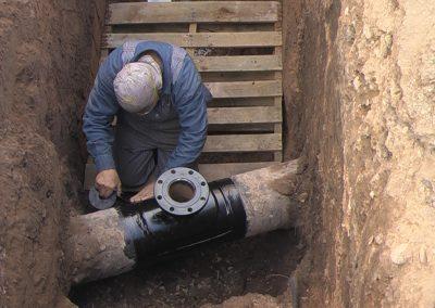 "Welding 4"" flange for hot tap Davis County, Utah Repairing 4"" thefirekettle.com"
