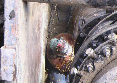 flange install in water main pipe welding Clearfield, Utah