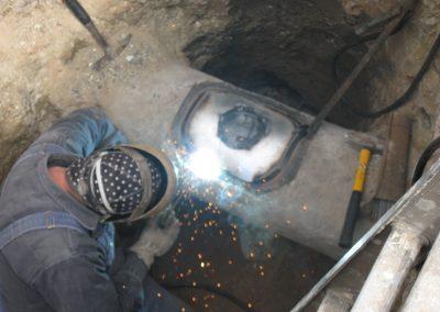 hot tie in on pccp shot coat pipe welding in Centerville, Utah