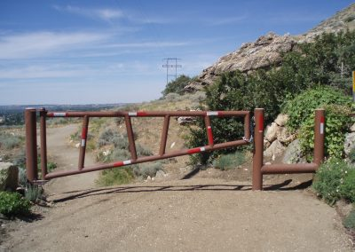 DNR Utah Department of Natural Resources footpath gate welding Bonneville Shoreline Trail, Kaysville, Utah