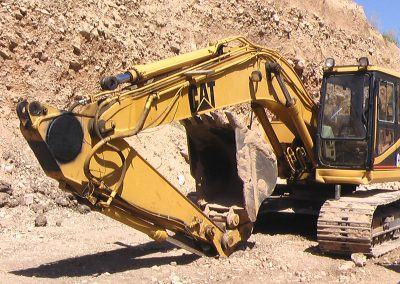 rebuilt broken knuckle on track hoe, Davis County, Utah, excavator repair