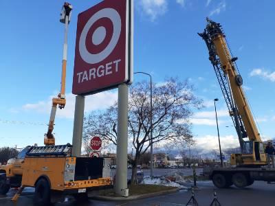 Commercial Sign repair semi damage Mobile Welder Ogden Weber Davis County Utah