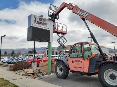 Industrial Welder Commercial Sign Removal and Installation