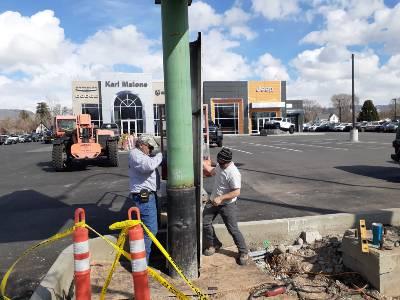 Mobile Welder Commercial Sign Install Salt Lake, Utah