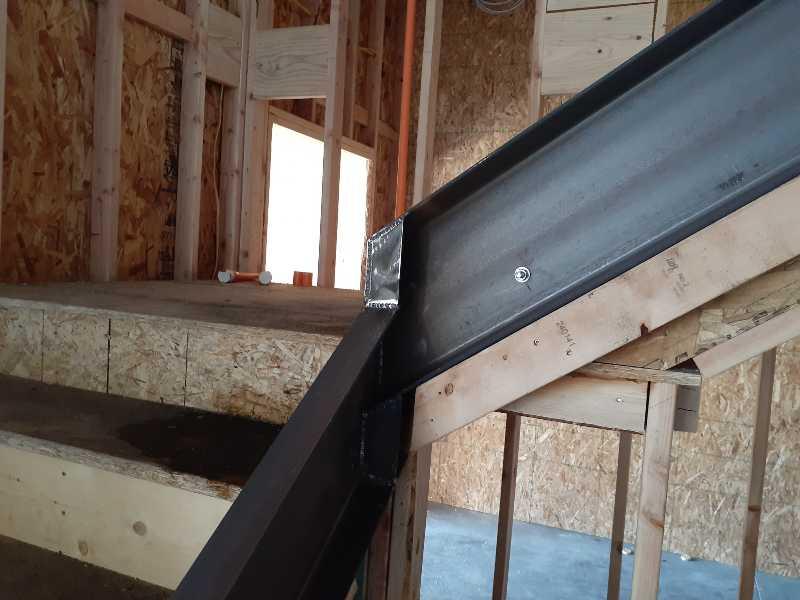 Channel Iron Wrap Commercial Handrail Wedding Venue Mobile Welder Weber County Utah